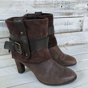 Nine West Brown Leather ankle boots, size 6.5